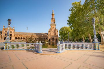 Plein Plaza de España in Sevilla, Spanje van Fotografiecor .nl