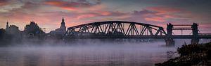 IJsselbrug Panorama in de mist