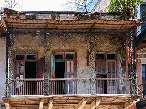 Verlaten huis in Panama City / Altes Haus in Panama city van Henk de Boer