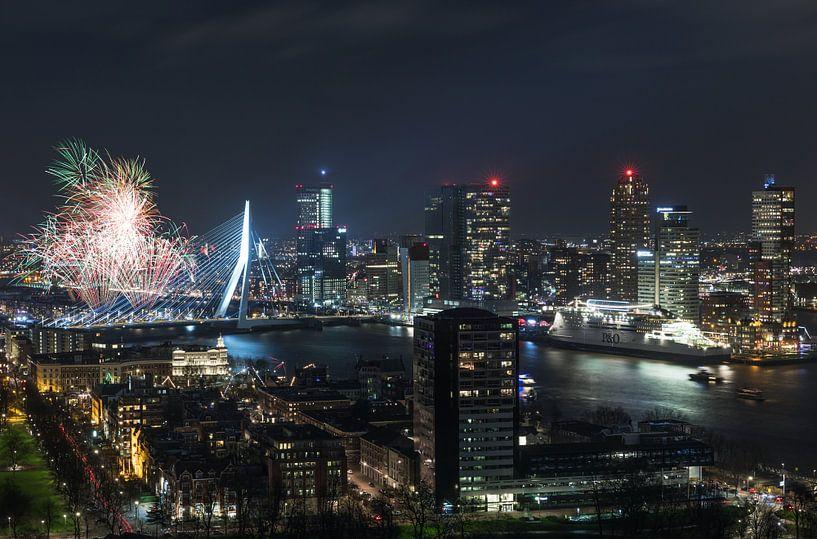 Nationaal Vuurwerk 2018 in Rotterdam van MS Fotografie   Marc van der Stelt