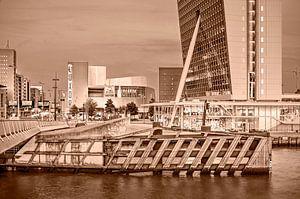 Rotterdam Kop van Zuid - monochroom van Frans Blok