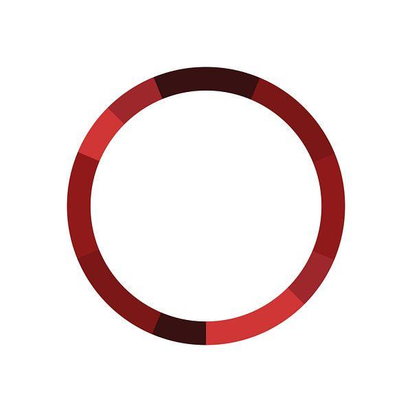 Monochromatisch Kleurenschema Rood van MDRN HOME