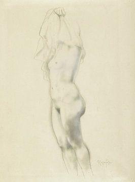 Stehender weiblicher Akt, Armand Rassenfosse, 1872-1934 von Atelier Liesjes