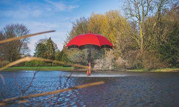 Paraplu-Fontein in Julianapark Leeuwarden von Steven Otter