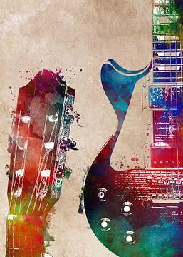 Gitarre 27 Musikkunst #Gitarre #Musik von JBJart Justyna Jaszke