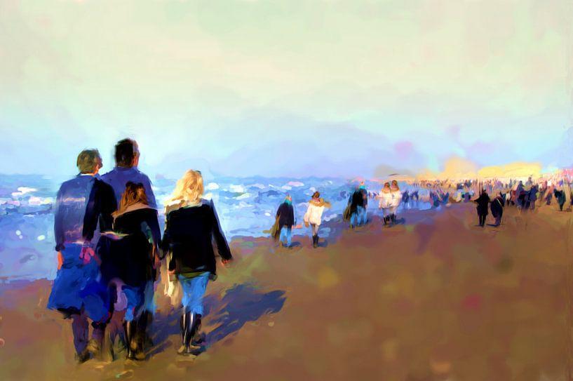 A Sunday at the beach von Frans Van der Kuil