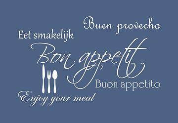 Bon appetit - Blauw van Sandra H6 Fotografie