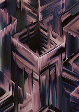 Fliegende Blöcke in den Raum 2 von Remco den Boesterd