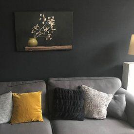 Kundenfoto: Stillleben mit Silberblatt von Joske Kempink, auf leinwand