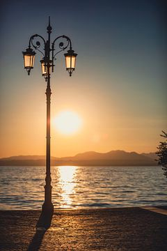 Lasize bij zonsondergang