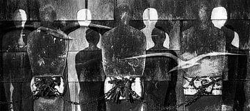 gevangen  vrijheid (zwart-wit) van Jaap van Lenthe