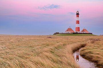 Westerhever Leuchtturm zum Morgenrot