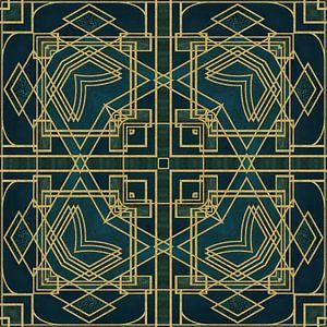 Carreau Art déco Or vert sur Andrea Haase