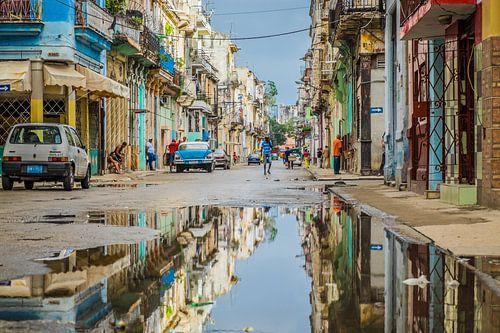 Havana straat van Anahi Clemens