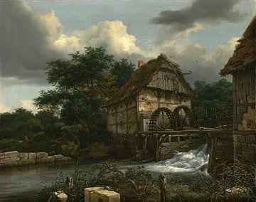 Jacob van Ruisdael - Two Watermills and an Open Sluice sur