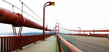 Panorama op Golden Gate bridge San Francisco