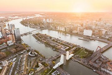 Luftaufnahme Rotterdam Zentrum mit verpacktem Hef