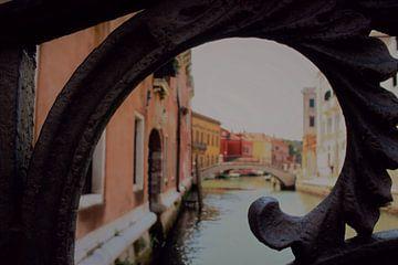 Gerahmte Ansicht des Venedig-Kanals von Loretta's Art