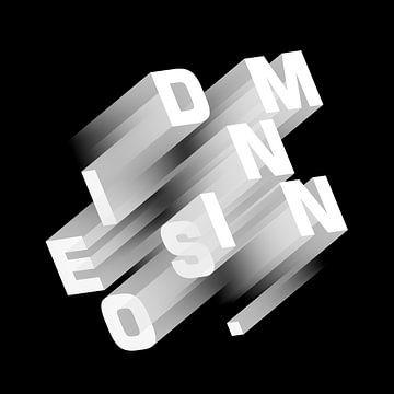 Dimension orthographisch schwarz-weiß von Jörg Hausmann