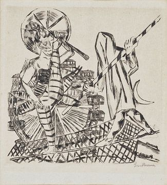 Die Seiltänzer, Max Beckmann, 1921 von Atelier Liesjes