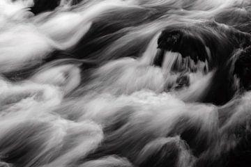 Abstract beeld van een waterval in IJsland van