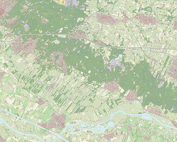 Kaart vanUtrechtse Heuvelrug van Rebel Ontwerp