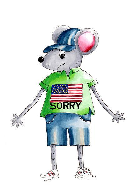 Maus entschuldigt sich für Amerika von Ivonne Wierink