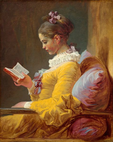 Lesende Mädchen, Jean-Honoré Fragonard von Liszt Collection