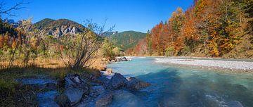 automne au Rissbach à Karwendel sur Susanne Bauernfeind
