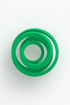 Groene vortex op lichte achtergrond van Jörg Hausmann