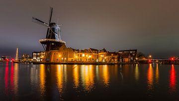 Mühle de Adriaan, Haarlem Stadtzentrum von Bas Banga