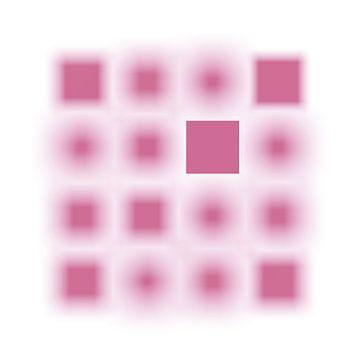 Gefocuste serie vierkanten roze van Jörg Hausmann