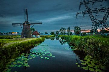De stads Molen in Leiden  van