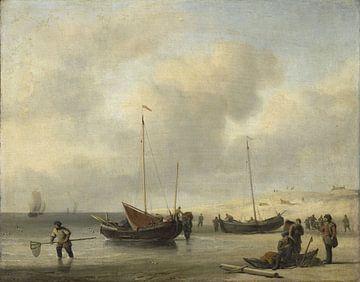 Fischerboote am Strand, Willem van de Velde