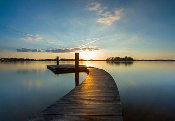 Steiger bij zonsondergang van Marcel Kerdijk