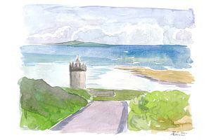 Meerblick auf Doonagore Castle mit Aran Islands von Markus Bleichner