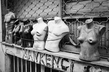 Istanbul torso's (zwart-wit) van Steve Van Hoyweghen