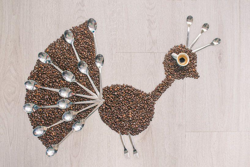 Peacock coffee von Elianne van Turennout