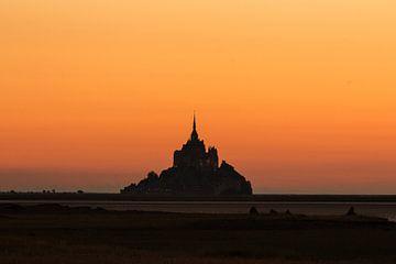 Mont-Saint-Michel-Schattenbild von Thijs van den Broek