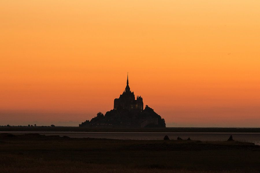 Mont Saint-Michel silhouet van Thijs van den Broek