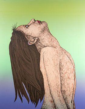 Vrouw Met Lang Haar van Helmut Böhm