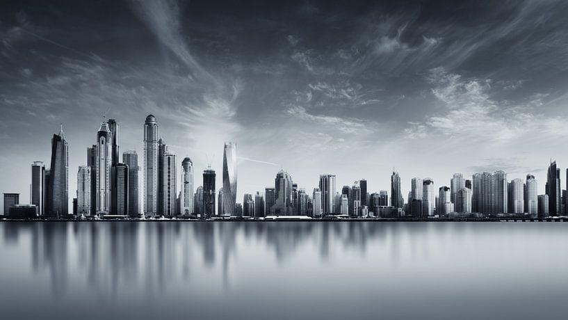 Dubai Marina Skyline van Martijn Kort