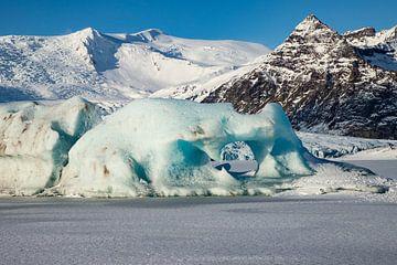 Jökulsárlón et Diamond Beach, paysage de l'Islande. sur Gert Hilbink