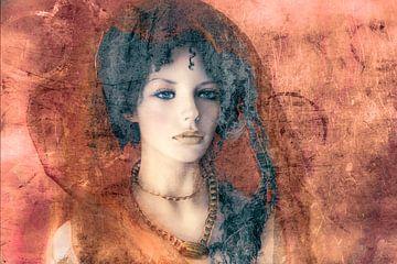 Porträt an der Wand von Marijke de Leeuw - Gabriëlse