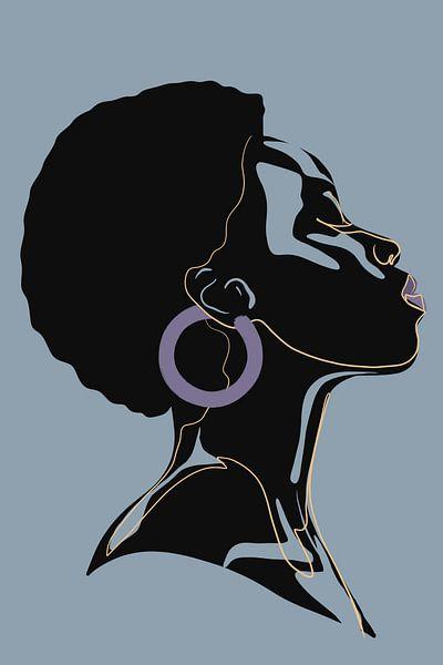 She - Purple Earring sur Marja van den Hurk