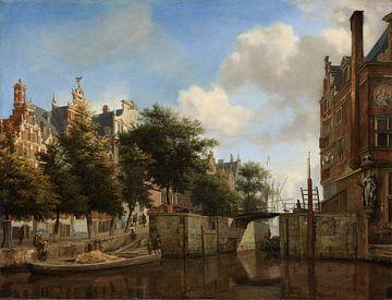 Amsterdam Stadtbild - Jan van der Heyden