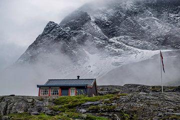 Noorwegen, de top van de Trollstigen. van Arjen Roos
