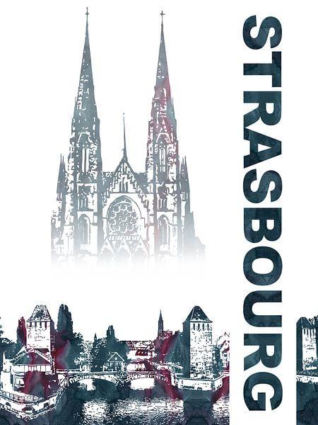Straatsburg van Printed Artings