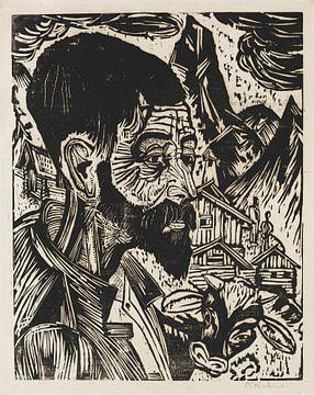Sennkopf (Martin Schmied), ERNST LUDWIG KIRCHNER, 1917 von Atelier Liesjes