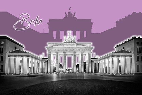 BERLIN Brandenburg Gate | Graphic Art | purple